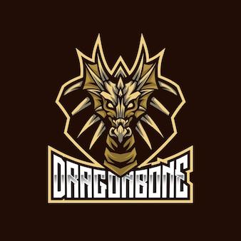Modelo de logotipo do dragon bone esport