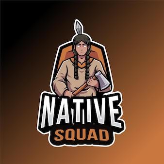 Modelo de logotipo do esquadrão nativo