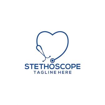 Modelo de logotipo do estetoscópio