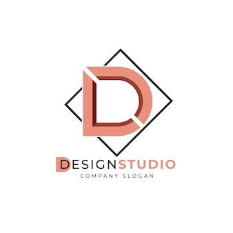 Modelo de logotipo do estúdio de design