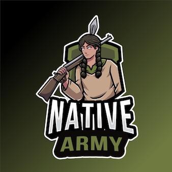 Modelo de logotipo do exército nativo