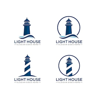 Modelo de logotipo do farol