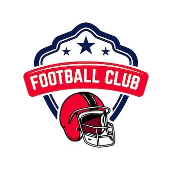 Modelo de logotipo do futebol americano.