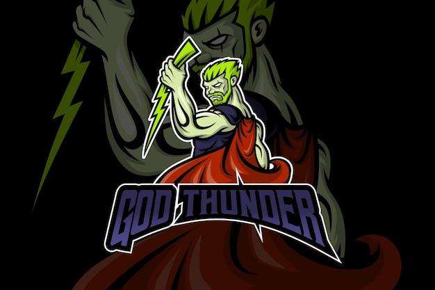 Modelo de logotipo do god thunder esport