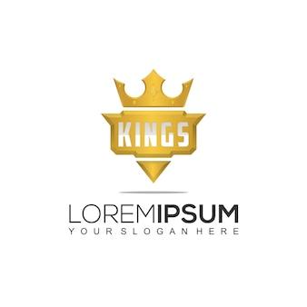 Modelo de logotipo do gold king e sport