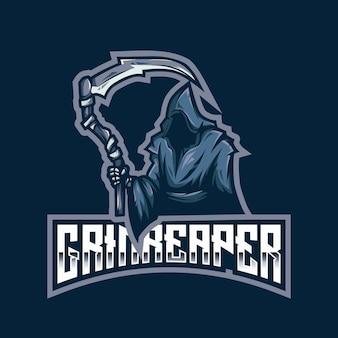 Modelo de logotipo do grim reaper esport