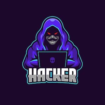 Modelo de logotipo do hacker esports