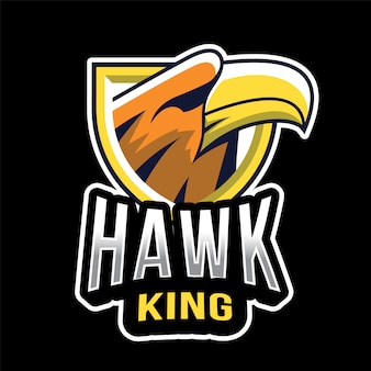 Modelo de logotipo do hawk king esport