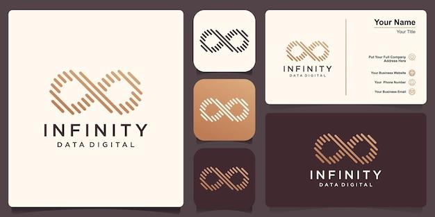 Modelo de logotipo do infinity, loop com conceito de linha