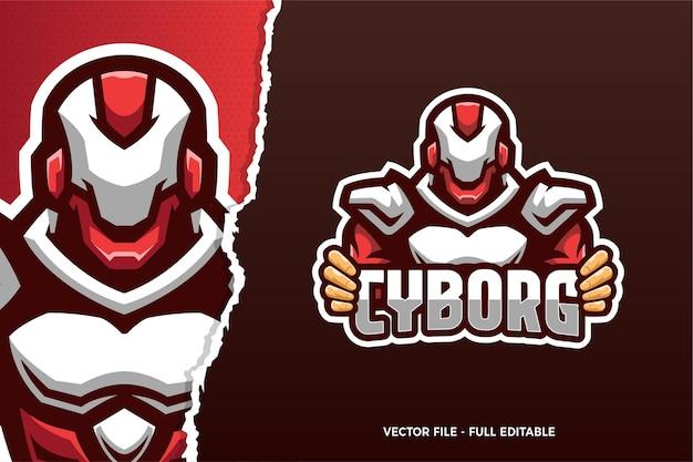 Modelo de logotipo do jogo red robot esports