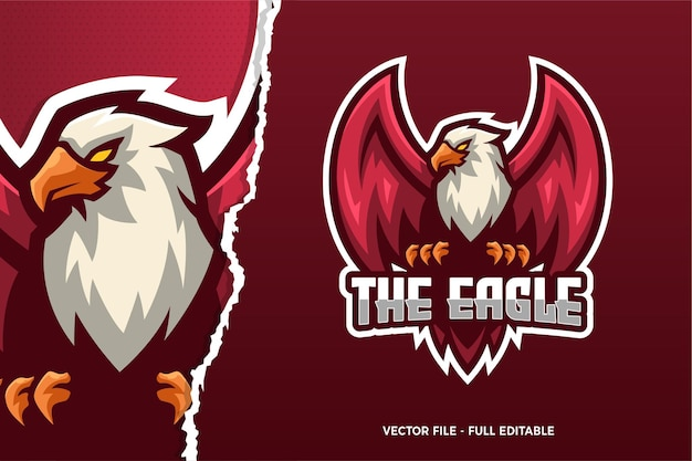 Modelo de logotipo do jogo the eagle e-sport