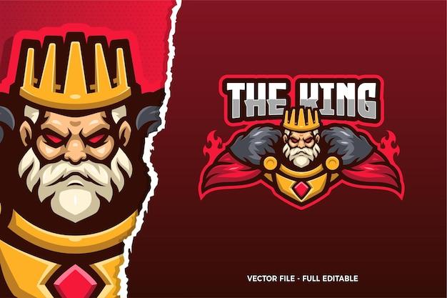 Modelo de logotipo do king e-sport