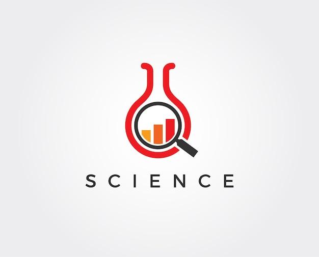 Modelo de logotipo do laboratório de crescimento