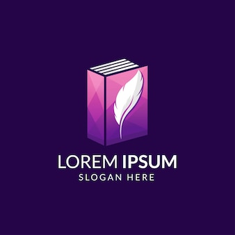 Modelo de logotipo do livro modern story life