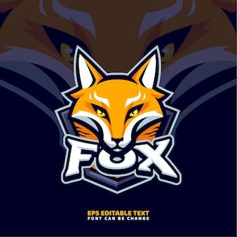 Modelo de logotipo do mascote fox