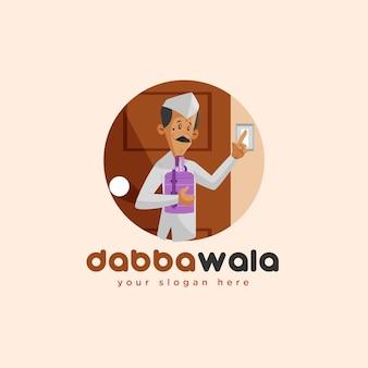 Modelo de logotipo do mascote indiano dabbawala