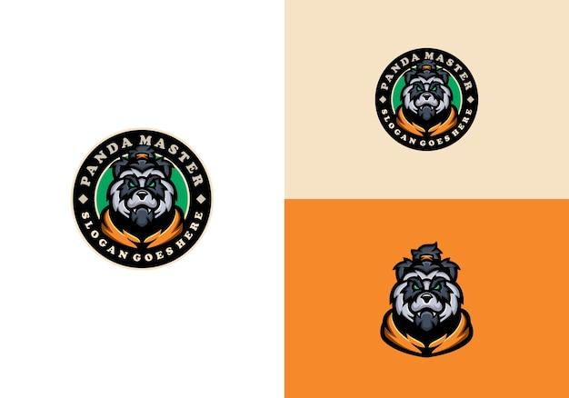 Modelo de logotipo do mascote panda