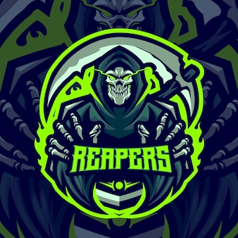Modelo de logotipo do mascote reapers