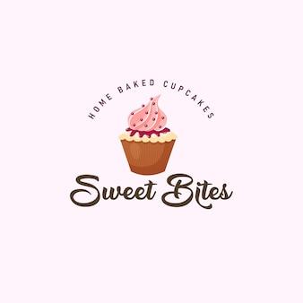 Modelo de logotipo do mascote sweet bites