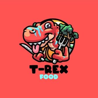 Modelo de logotipo do mascote t-rex