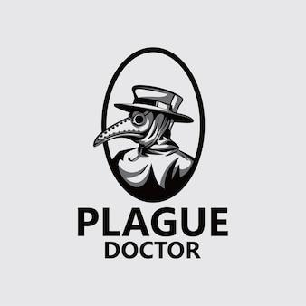 Modelo de logotipo do médico da praga