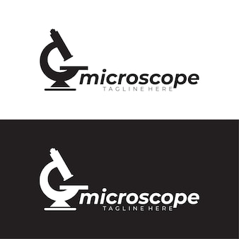 Modelo de logotipo do microscópio