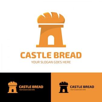 Modelo de logotipo do pão de castelo