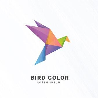 Modelo de logotipo do pássaro