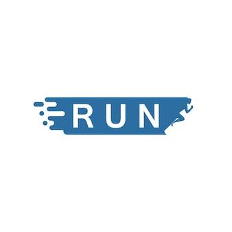 Modelo de logotipo do people run sport