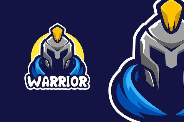 Modelo de logotipo do personagem gladiator spartan warrior mascote