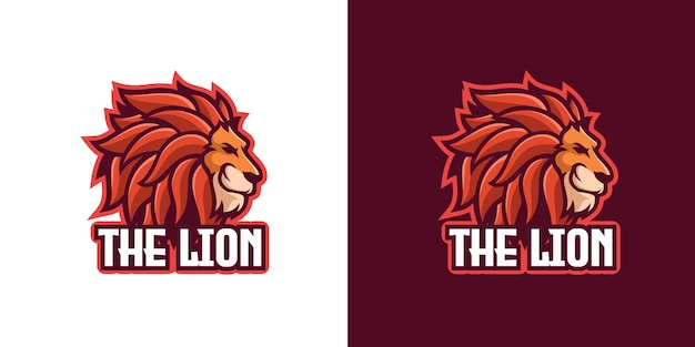Modelo de logotipo do personagem lion wild animal mascote