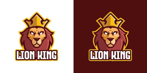 Modelo de logotipo do personagem mascote do leão