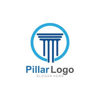 Modelo de logotipo do pilar