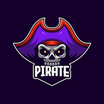 Modelo de logotipo do pirata e-sports