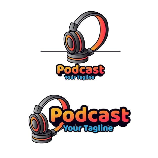 Modelo de logotipo do podcast talk
