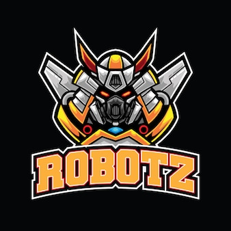 Modelo de logotipo do robotz esport