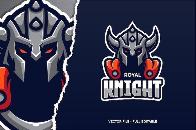 Modelo de logotipo do royal knight e-sport