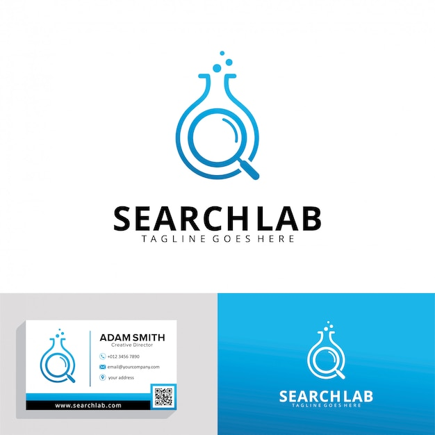 Modelo de logotipo do search lab