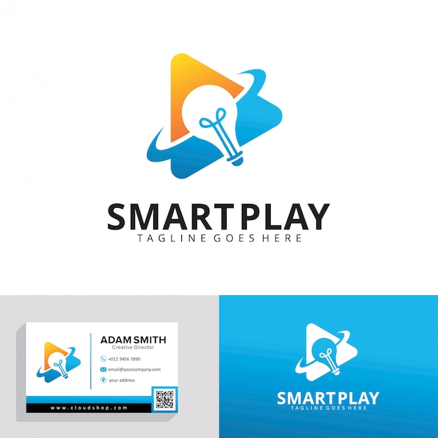 Modelo de logotipo do smart play