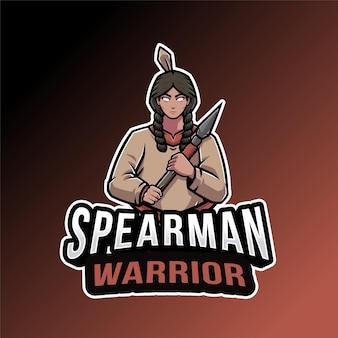 Modelo de logotipo do spearman warrior