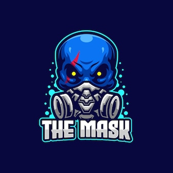 Modelo de logotipo do the mask esports