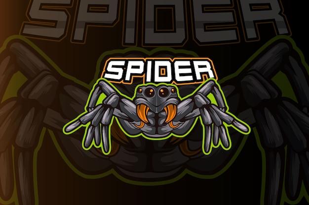 Modelo de logotipo do time de e-sports da spider