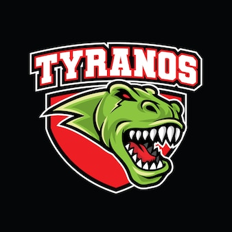 Modelo de logotipo do tiranossauro rex esport