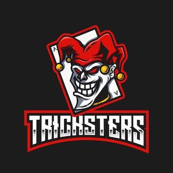 Modelo de logotipo do tricksters esport