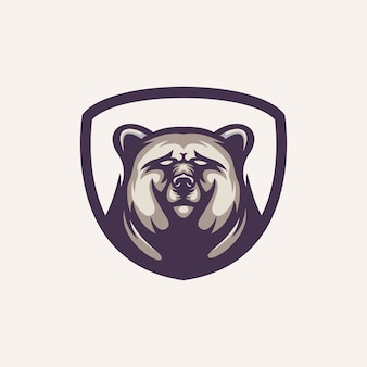 Modelo de logotipo do urso