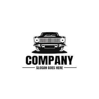 Modelo de logotipo do veículo. ícone de carro. aluguel, reparo, garagem.