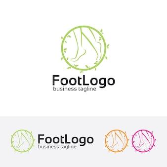 Modelo de logotipo do vetor pé spa