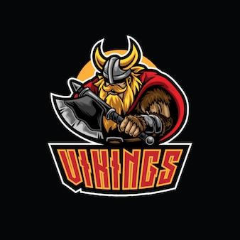 Modelo de logotipo do viking warrior esport
