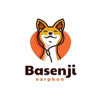 Modelo de logotipo dog mascot cartoon style