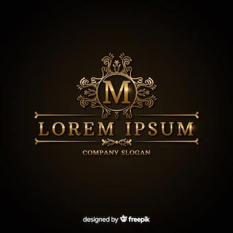 Modelo de logotipo dourado luxuoso